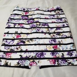 White House Black Market Floral Skirt